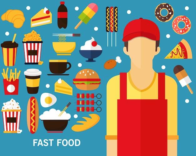 Fundo de conceito de fast-food
