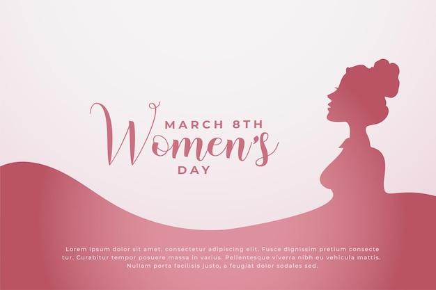 Fundo de conceito de feliz dia da mulher