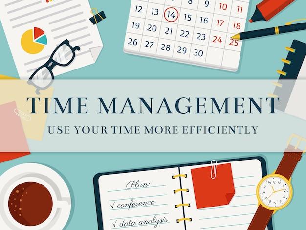 Fundo de conceito de gerenciamento de tempo.