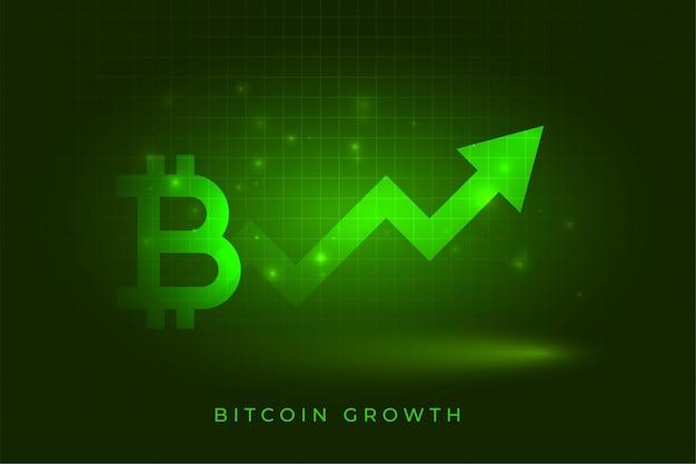 Fundo de conceito de gráfico de crescimento de sucesso de bitcoin