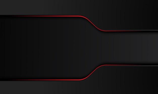 Fundo de conceito de inovação de tecnologia de design abstrato preto vermelho metálico