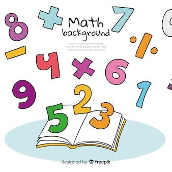 Fundo de conceito de matemática dos desenhos animados