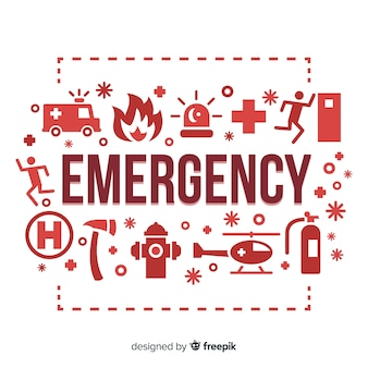 Fundo de conceito de palavra de emergência