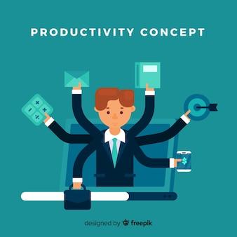 Fundo de conceito de produtividade