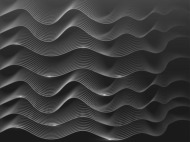 Fundo de conceito de rede blockchain, ondas de razão distribuídas