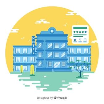 Fundo de conceito de revisão de hotel