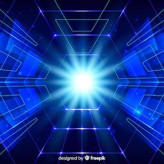 Fundo de conceito de tecnologia com luz neon