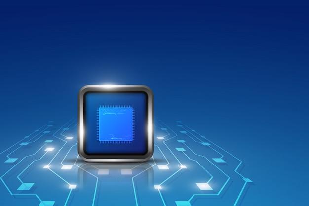 Fundo de conceito de tecnologia de inovação de processamento de computador