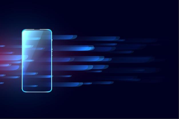 Fundo de conceito de tecnologia digital móvel futurista