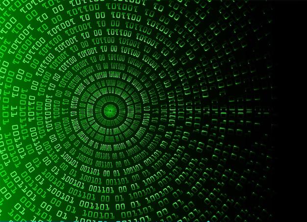 Fundo de conceito de tecnologia futura de circuito cibernético binário verde