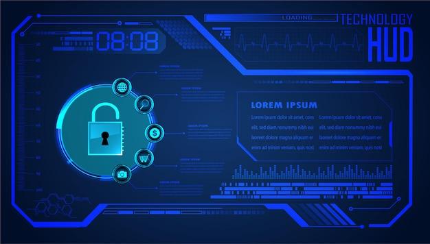 Fundo de conceito de tecnologia futura de circuito cibernético hud