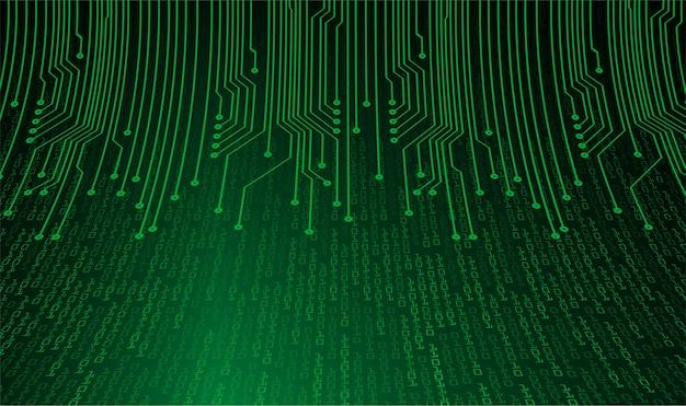 Fundo de conceito de tecnologia futura de circuito cibernético verde