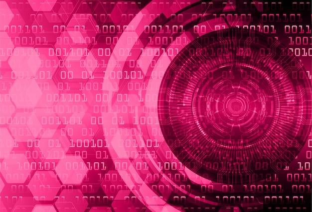 Fundo de conceito de tecnologia futura de circuito de olho-de-rosa
