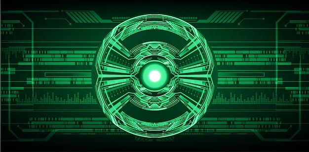 Fundo de conceito de tecnologia futura de circuito de olho verde