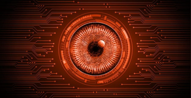 Fundo de conceito de tecnologia futura de circuito de olho vermelho