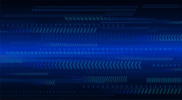 Fundo de conceito de tecnologia futura seta azul