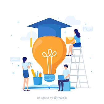 Fundo de conceito de universidade plana