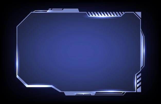 Fundo de conceito futurista abstrato hud sci fi frame modelo layout design