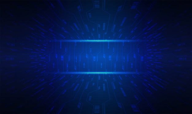 Fundo de conceito futuro tecnologia azul cyber circuito
