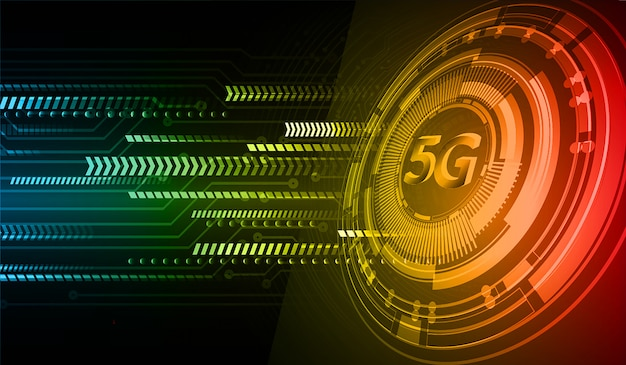 Fundo de conceito futuro tecnologia cyber circuito azul verde