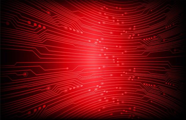 Fundo de conceito futuro tecnologia de circuito vermelho cyber