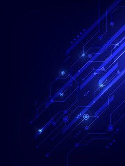 Fundo de conceito inovador de tecnologia digital