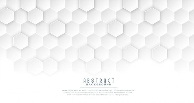 Fundo de conceito médico hexagonal branco limpo