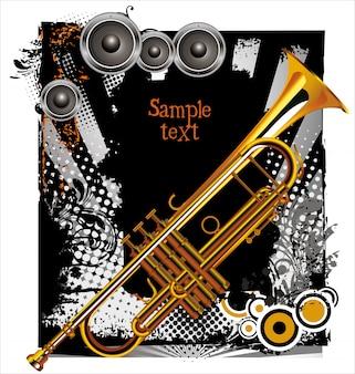 Fundo de concerto de jazz