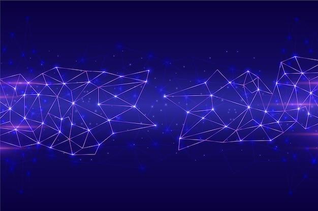 Fundo de conexão de circuito de rede futurista