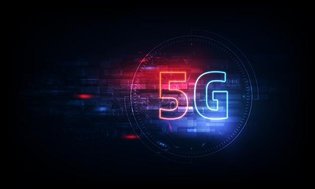 Fundo de conexão de internet sem fio. rede global de rede de alta velocidade. símbolo 5g no fundo.