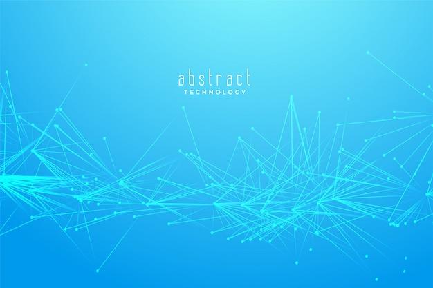 Fundo de conexão de linhas de caos fractal abstrato