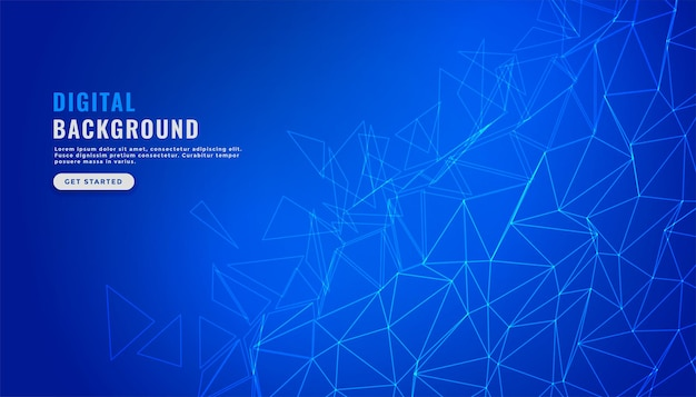 Fundo de conexão de malha de rede digital azul