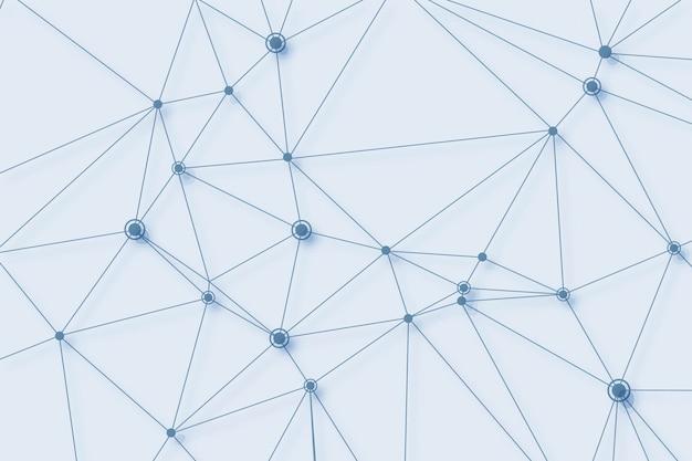 Fundo de conexão de polígono de tecnologia digital