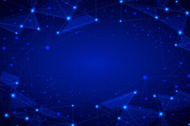 Fundo de conexão de rede com pontos