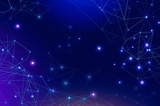 Fundo de conexão de rede de estilo abstrato