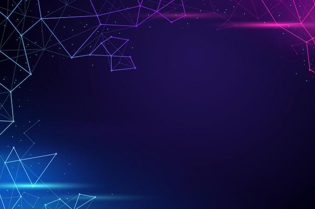 Fundo de conexão de rede de estilo gradiente