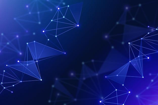Fundo de conexão de rede em gradiente