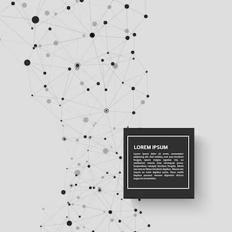 Fundo de conexão de tecnologia e design de ciência abstrata