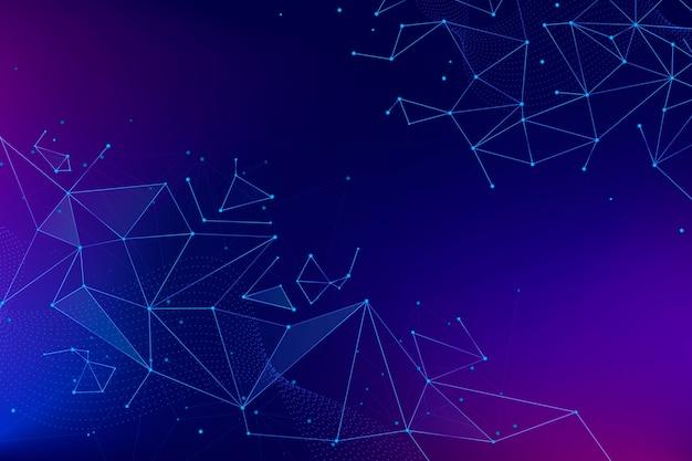 Fundo de conexão gradiente