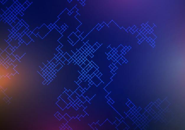 Fundo de conexões com design de estrutura abstrata