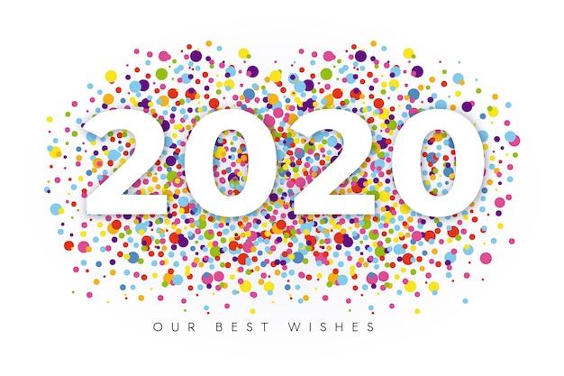 Fundo de confete ano novo 2020