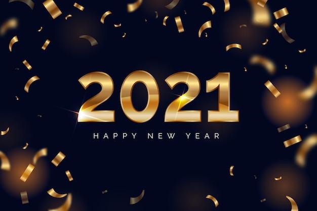 Fundo de confete ano novo 2021
