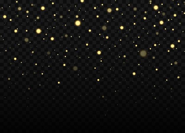 Fundo de confete dourado e textura de glitter