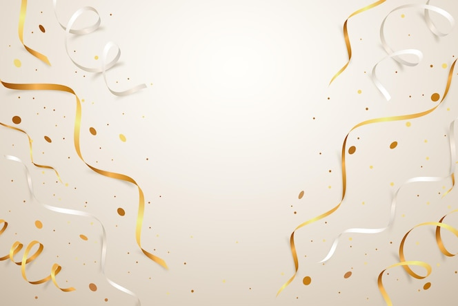 fundo de confete dourado realista