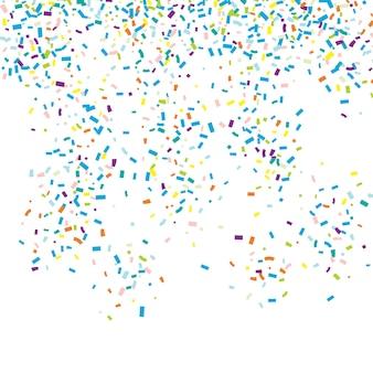 Fundo de confetes caindo