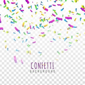 Fundo de confetes colorido de beldade