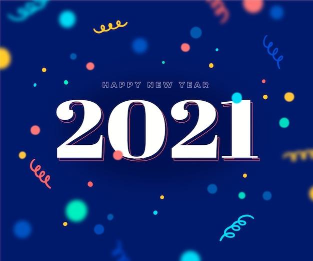Fundo de confetes coloridos ano novo 2021