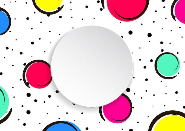 Fundo de confetes coloridos pop art