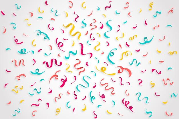 Fundo de confetes de aniversário colorido