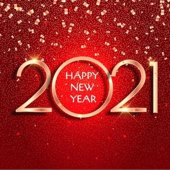Fundo de confetes de ano novo 2021